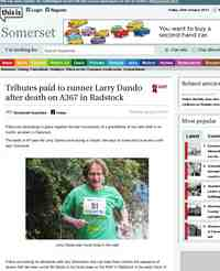 Tributes paid to runner Larry Dando after death: This is